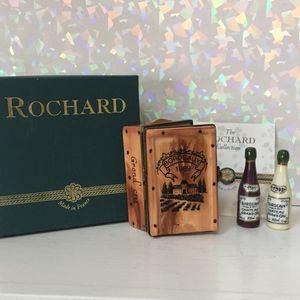 Limoges Rochard 1989 Wine Crate/2 Bordeaux Bottles